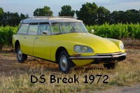 DS Break 1973 jaune ...